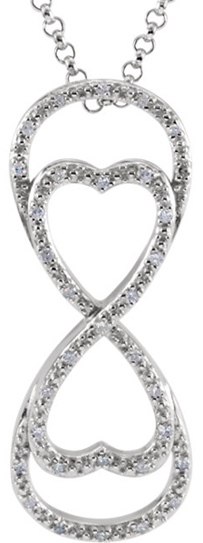 Fabulous Eternal Love Sterling Silver Diamond Pendant -1/8ct tw - SOLD