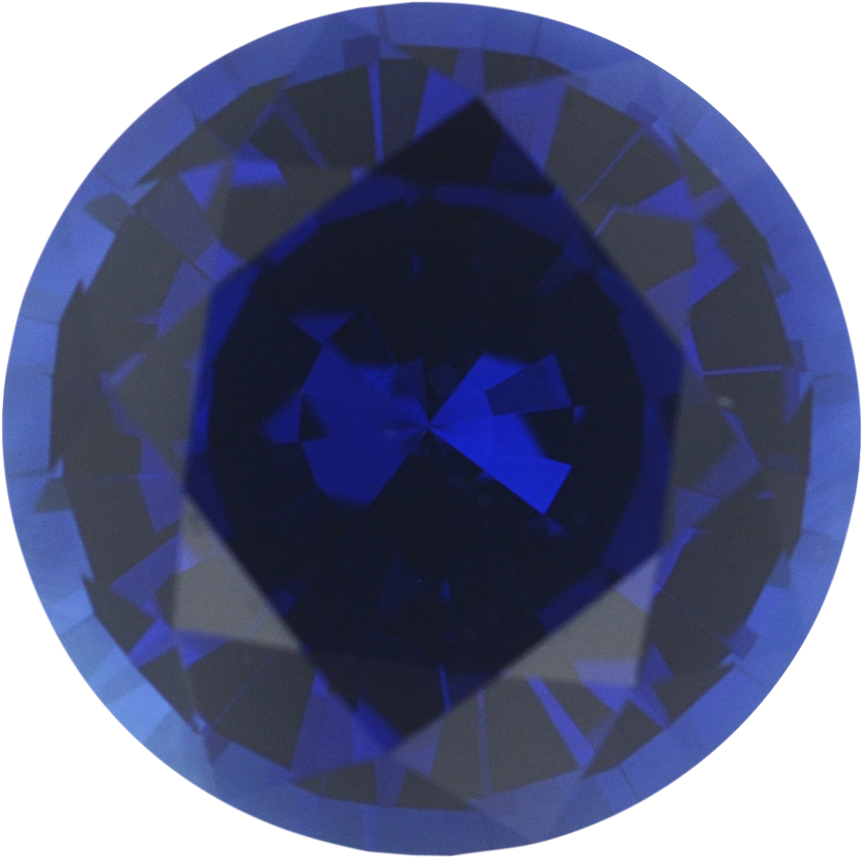 Fabulous Loose Blue Sapphire Gem in Round Cut, Vivid Violetish Blue, 5.78 mm, 0.89 carats
