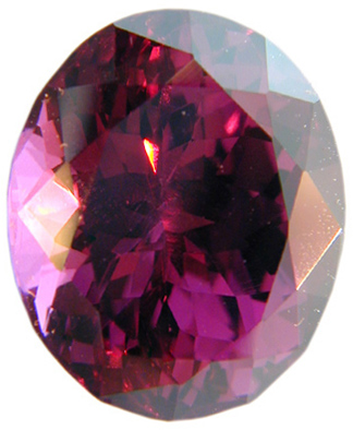 Fabulous Pinkish Red Raspberry Rhodolite Garnet Gemstone, Oval Cut, 8.52 carats