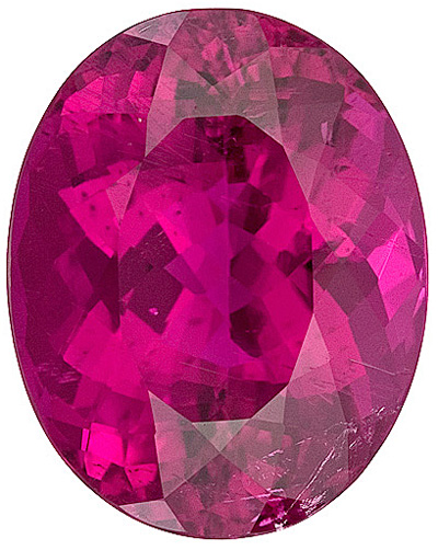 Fabulous Rare Size! Quality Reddish Pink Tourmaline Genuine Gemstone from Brazil, Oval Cut, 12.26 carats - SOLD