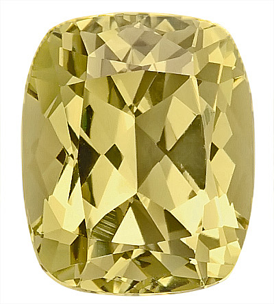 Fabulous Unheated Yellow Grossular Garnet Genuine Gem for SALE, Antique Cushion Cut, 10.8 x 9.1 mm, 5.35 carats