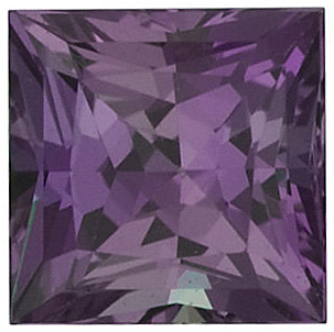 Faceted Alexandrite Gem, Princess Shape, AA, 3.75 mm in Size, 0.28 Carats