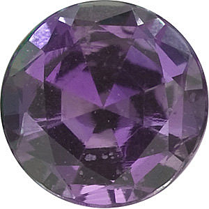 Faceted Alexandrite Gem, Round Shape, Grade A, 3.50 mm in Size, 0.18 Carats