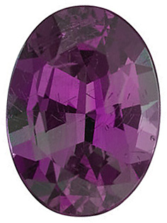 Faceted Alexandrite Stone, Oval Shape, Grade GEM, 6.00 x 4.00 mm in Size, 0.15 Carats