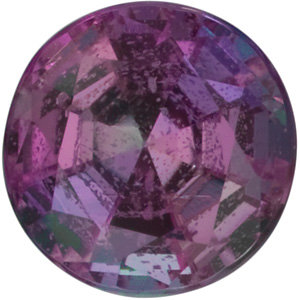 Faceted Alexandrite Stone, Round Shape, Grade A, 4.25 mm in Size, 0.33 Carats