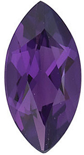 Faceted Amethyst Gemstone, Marquise Shape, Grade AAA, 5.00 x 2.50 mm Size, 0.15 carats