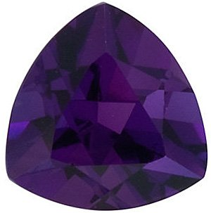 Faceted Amethyst Stone, Trillion Shape, Grade AAA, 7.00 mm Size, 1 carats