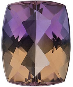 Faceted Ametrine Stone, Antique Cushion Shape, Grade AA, 12.00 x 10.00 mm in Size, 5.9 carats