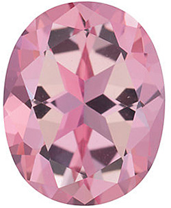 Faceted Baby Pink Passion Topaz Gemstone, Oval Shape, Grade AAA, 7.00 x 5.00 mm in Size