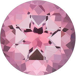 Faceted Baby Pink Passion Topaz Stone, Round Shape, Grade AAA, 5.00 mm in Size