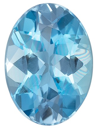 Faceted Aquamarine Gemstone, Oval Cut, 0.64 carats, 7 x 5 mm , AfricaGems Certified - A Great Buy