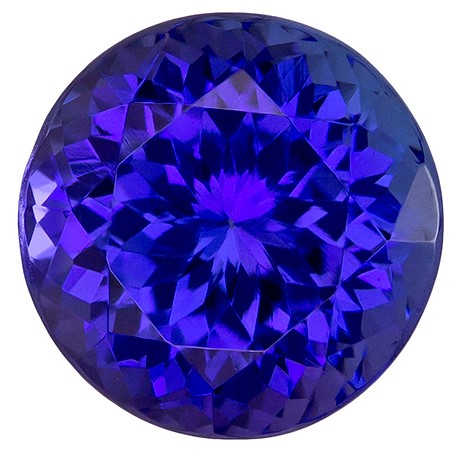 Faceted Vivid Tanzanite Gemstone, Round Cut, 3.06 carats, 8.5 mm , AfricaGems Certified - A Great Buy