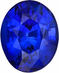 Faceted Blue Sapphire Gem, Oval Shape, Grade AAA, 7.00 x 5.00 mm in Size, 1.1 Carats