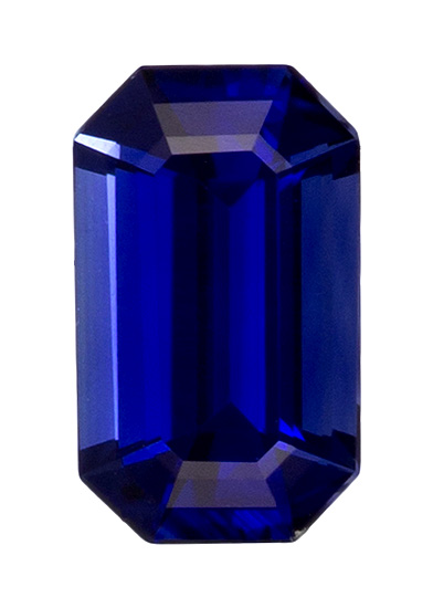 Faceted Blue Sapphire Gemstone, Emerald Cut, 0.28 carats, 4.8 x 2.9 mm , AfricaGems Certified - A Great Buy