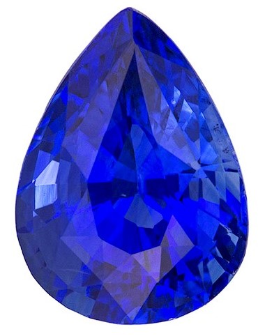 Faceted Blue Sapphire Gemstone, Pear Cut, 3.57 carats, 10.71 x 7.85 x 5.95 mm , GIA Certified - A Wonderful Find!