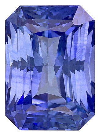 Faceted Blue Sapphire Gemstone, Radiant Cut, 2.03 carats, 7.7 x 5.5 mm , AfricaGems Certified - A Hard to Find Gem