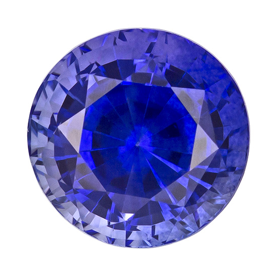 Faceted Blue Sapphire Gemstone, Round Cut, 1.29 carats, 6 mm , AfricaGems Certified - A Wonderful Find