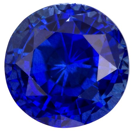 Faceted Blue Sapphire Gemstone, Round Cut, 3.15 carats, 8.56 x 8.64 x 5.28 mm , GIA Certified - A Low Price