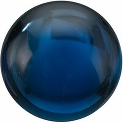 Faceted Blue Sapphire Gemstone, Round Shape, Grade AA, 2.50 mm in Size, 0.1 Carats