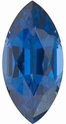 Faceted Blue Sapphire Stone, Marquise Shape, Grade AAA, 6.00 x 3.00 mm in Size, 0.35 Carats