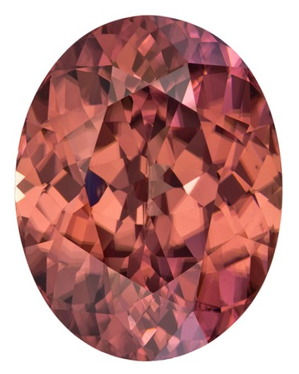 Faceted Brown Zircon Gemstone, Oval Cut, 11.29 carats, 14.5 x 11.3 mm , AfricaGems Certified - Unusually Fine