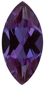 Faceted Chatham Created Alexandrite Stone, Marquise Shape, Grade GEM, 8.00 x 4.00 mm in Size, 0.66 Carats