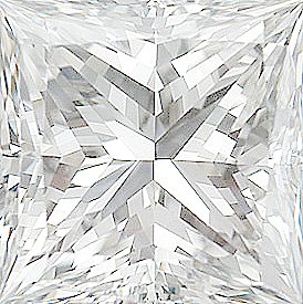Faceted Diamond Melee, Princess Shape, E Color - VS Clarity, 2.25 mm in Size, 0.07 Carats
