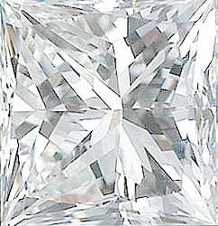 Faceted Diamond Melee, Princess Shape, G-H Color - VS Clarity, 4.00 mm in Size, 0.4 Carats