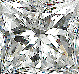 Faceted Diamond Melee, Princess Shape, I-J Color - I1 Clarity, 3.25 mm in Size, 0.2 Carats