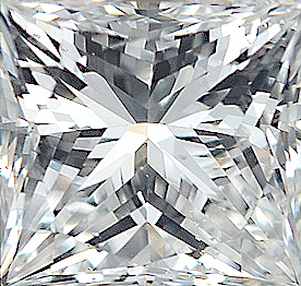 Faceted Diamond Melee, Princess Shape, I-J Color - SI1 Clarity, 2.75 mm in Size, 0.11 Carats