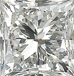 Faceted Diamond Melee, Princess Shape, I-J Color - SI2-SI3 Clarity, 2.50 mm in Size, 0.09 Carats