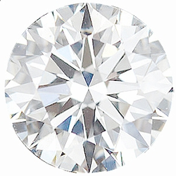 Faceted Diamond Melee, Round Shape, E Color - VS Clarity, 3.00 mm in Size, 0.1 Carats