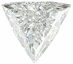 Faceted Diamond Melee, Triangle Shape, G-H Color - SI2/SI3 Clarity, 4.00 mm in Size, 0.19 Carats