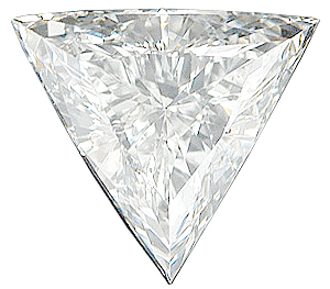 Faceted Diamond Melee, Triangle Shape, G-H Color - VS Clarity, 6.00 mm in Size, 0.52 Carats