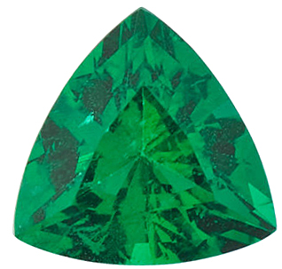 Faceted Emerald Gem, Trillion Shape, Grade AAA, 2.00 mm in Size, 0.05 Carats