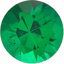 Faceted Emerald Stone, Round Shape, Grade GEM, 2.00 mm in Size, 0.04 Carats