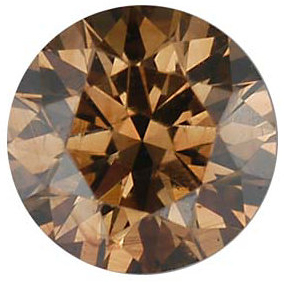 Faceted Fancy Cognac Diamond Melee, Round Shape, VS Clarity, 4.10 mm in Size, 0.25 Carats