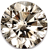 Faceted Fancy Light Brown Diamond Melee Round Shape, SI1 Clarity, 2.20 mm0.04 Carats