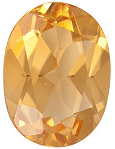 Faceted Golden Citrine Gemstone, Oval Shape, Grade A, 7.00 x 5.00 mm in Size, 0.72 carats