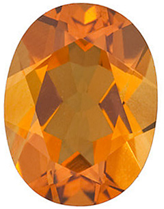 Faceted Golden Citrine Stone, Oval Shape, Grade AA, 10.00 x 8.00 mm in Size, 2.45 carats