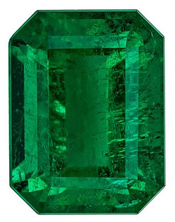 Faceted Vibrant Emerald Gemstone, Emerald Cut, 5.73 carats, 11.78 x 8.96 x 7.12 mm , GIA Certified - A Beauty of A Gem