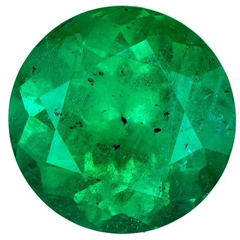 Faceted Vibrant Emerald Gemstone, Round Cut, 1.39 carats, 7.2 mm , AfricaGems Certified - Truly Stunning