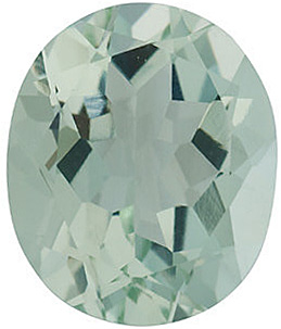 Faceted Green Quartz Gem, Oval Shape, Grade AA, 14.00 x 10.00 mm in Size, 6.2 Carats