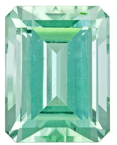 Faceted Green Tourmaline Gemstone, Emerald Cut, 2.9 carats, 9.1 x 7 mm , AfricaGems Certified - A Great Colored Gem