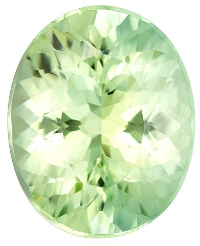 Faceted Green Tourmaline Gemstone, Oval Cut, 2.77 carats, 10.4 x 8.4 mm , AfricaGems Certified - A Great Buy