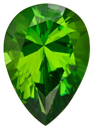 Faceted Chrome Tourmaline Gemstone, Pear Cut, 1.13 carats, 8.6 x 6 mm , AfricaGems Certified - A Wonderful Find!