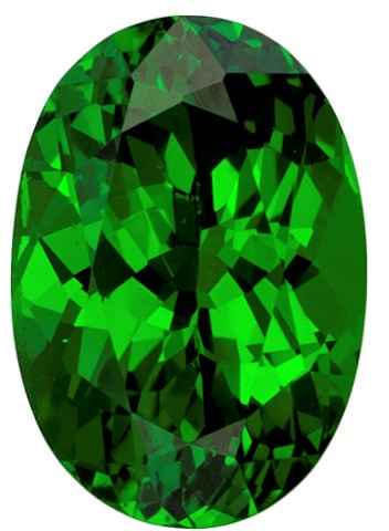 Faceted Vivid Tsavorite Gemstone, Oval Cut, 1.04 carats, 7.1 x 4.9 mm , AfricaGems Certified - Truly Stunning