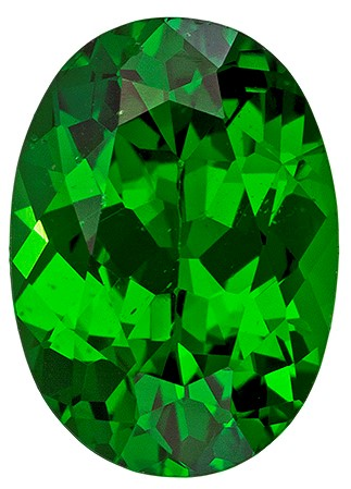 Faceted Vivid Tsavorite Gemstone, Oval Cut, 1.14 carats, 7.6 x 5.5 mm , AfricaGems Certified - A Wonderful Find