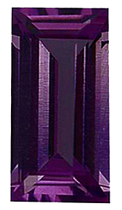 Faceted Imitation Alexandrite Stone, Baguette Shape, 4.00 x 1.50 mm in Size