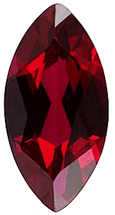 Faceted Imitation Red Garnet Gem, Marquise Shape, 4.00 x 2.00 mm in Size